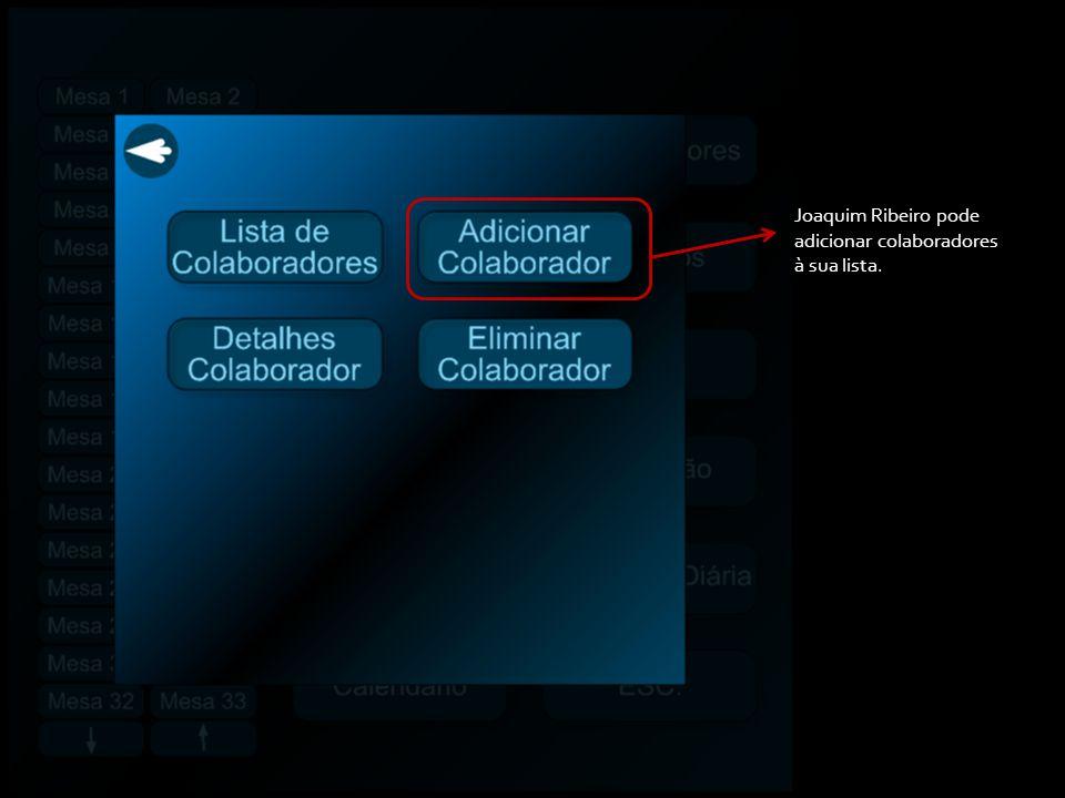 Retrocede Em caso de contratação de colaboradores, seleciona-se esta opção que permite inserir a informação sobre os mesmos