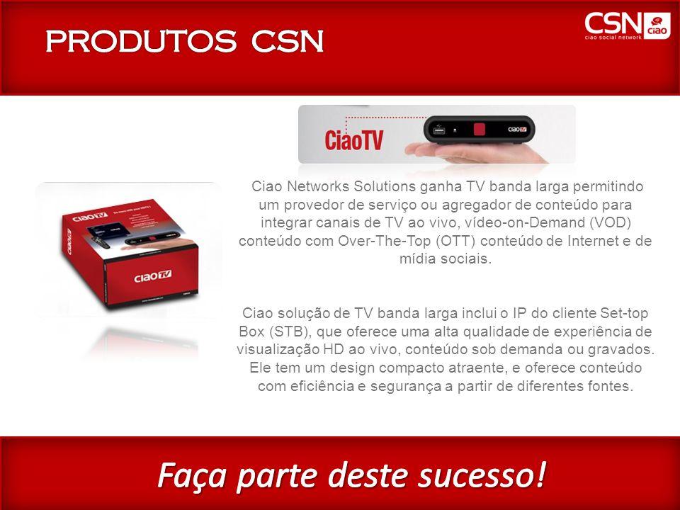 CiaoTV Ciao Networks Solutions ganha TV banda larga permitindo um provedor de serviço ou agregador de conteúdo para integrar canais de TV ao vivo, vídeo-on-Demand (VOD) conteúdo com Over-The-Top (OTT) conteúdo de Internet e de mídia sociais.