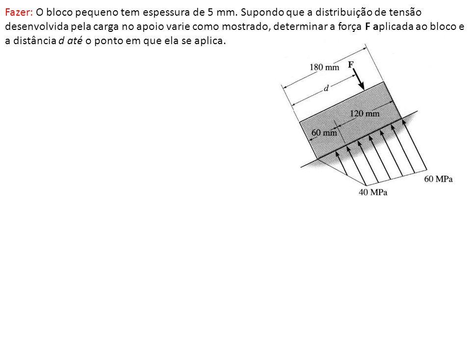 Fazer: O bloco pequeno tem espessura de 5 mm.