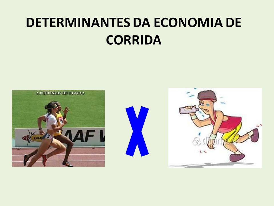 TREINANDO ECONOMIA DE CORRIDA O treino de endurance, além de outras intervenções, melhoram a EC em pessoas destreinadas ou moderadamente treinadas.