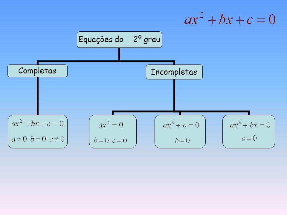 Equações do 2º grau CompletasIncompletas