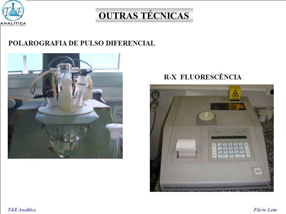 T&E Analítica Flávio Leite POLAROGRAFIA DE PULSO DIFERENCIAL R-X FLUORESCÊNCIA OUTRAS TÉCNICAS