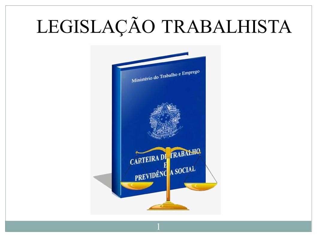 LEGISLAÇÃO TRABALHISTA 1