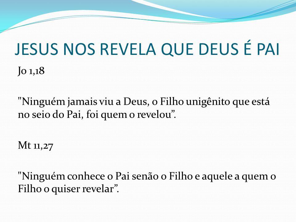 JESUS NOS REVELA QUE DEUS É PAI Jo 1,18