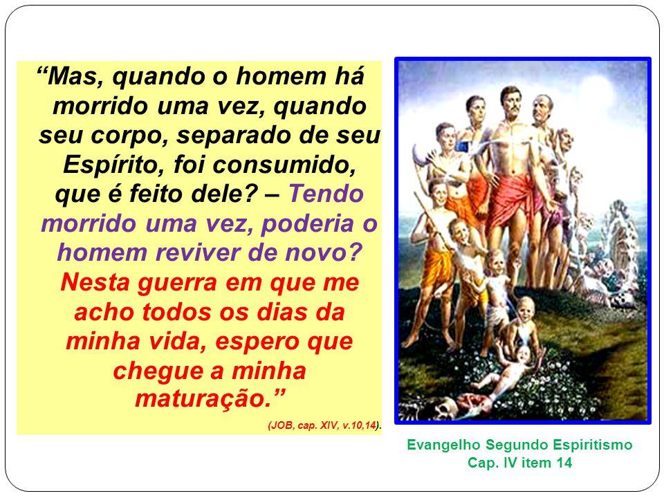 Mas, quando o homem há morrido uma vez, quando seu corpo, separado de seu Espírito, foi consumido, que é feito dele.