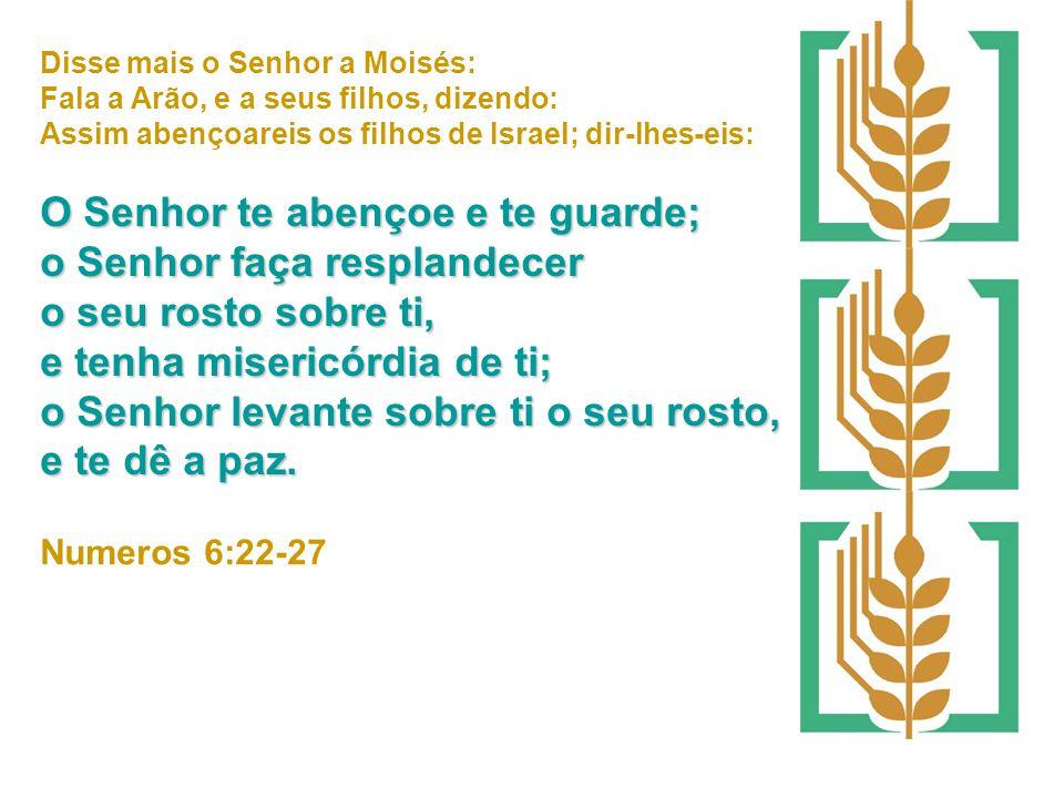 Disse mais o Senhor a Moisés: Fala a Arão, e a seus filhos, dizendo: Assim abençoareis os filhos de Israel; dir-lhes-eis: O Senhor te abençoe e te gua