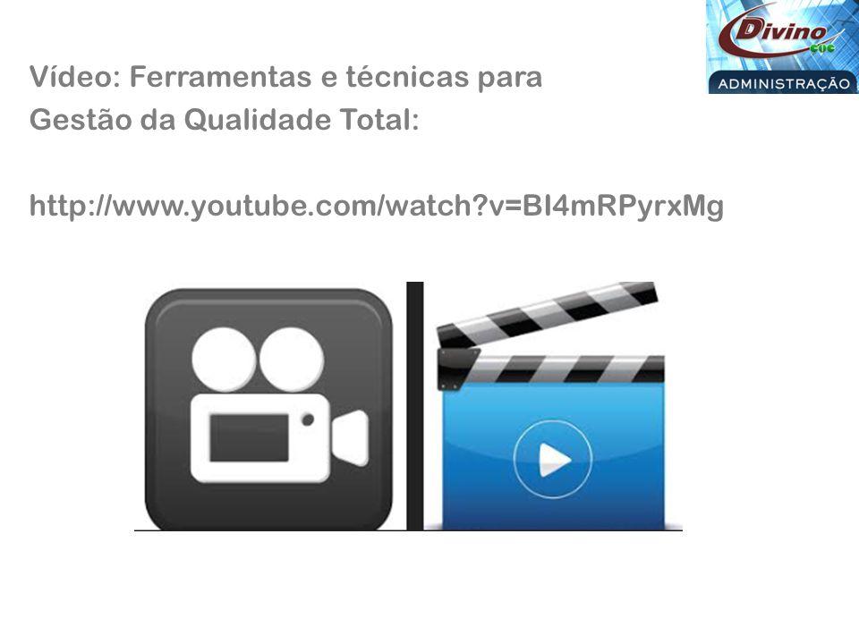 Vídeo: Ferramentas e técnicas para Gestão da Qualidade Total: http://www.youtube.com/watch?v=BI4mRPyrxMg
