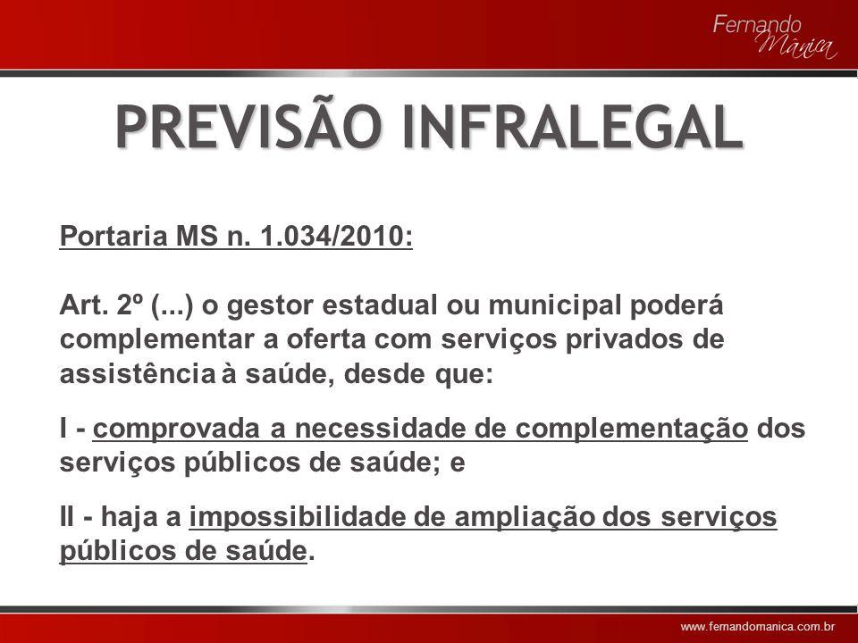 www.fernandomanica.com.br PÚBLICO x PRIVADO 1 – Modelo Público Integrado 2 – Modelo Contratual Público 3 – Modelo de Seguro e Provisão Privados