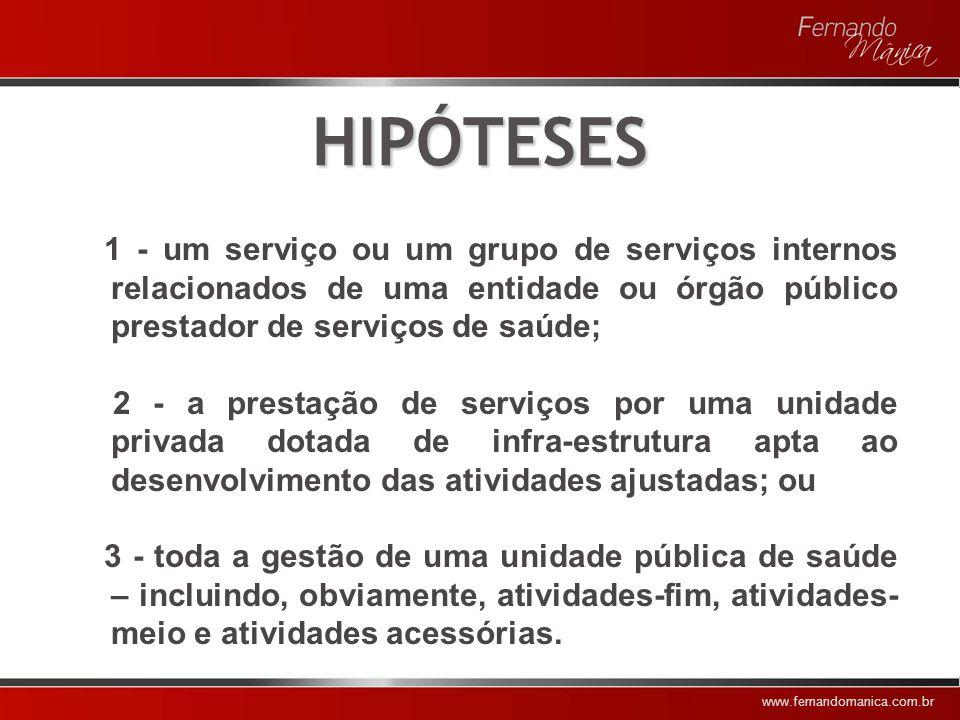 www.fernandomanica.com.br OBJETIVOS 1 - Ampliar a cobertura assistencial 2 - Diminuir custos 3 - Melhorar a qualidade do atendimento 4 - Possibilitar maior controle sobre os serviços