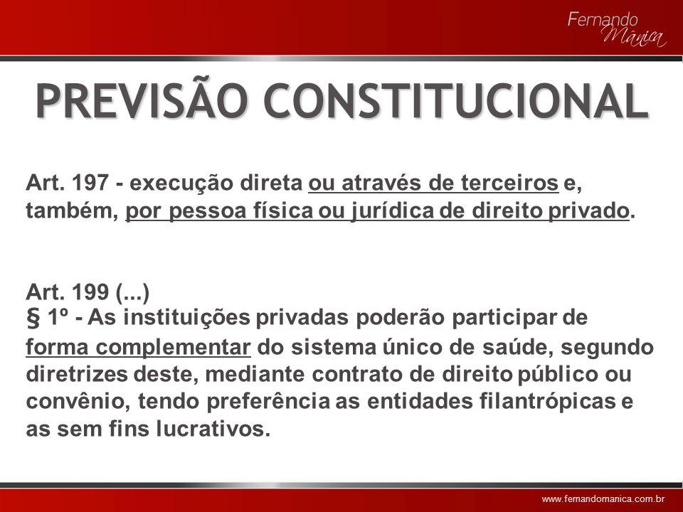 www.fernandomanica.com.br PREVISÃO LEGAL Lei 8.080/1990: Art.