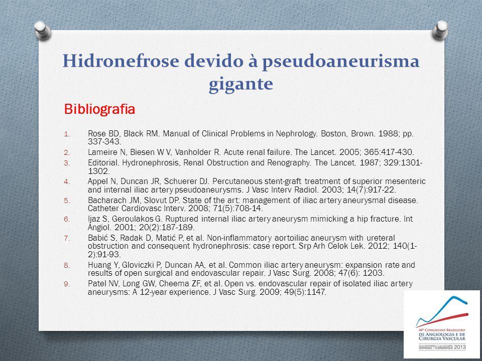 1. Rose BD, Black RM. Manual of Clinical Problems in Nephrology. Boston, Brown. 1988; pp. 337-343. 2. Lameire N, Biesen W V, Vanholder R. Acute renal