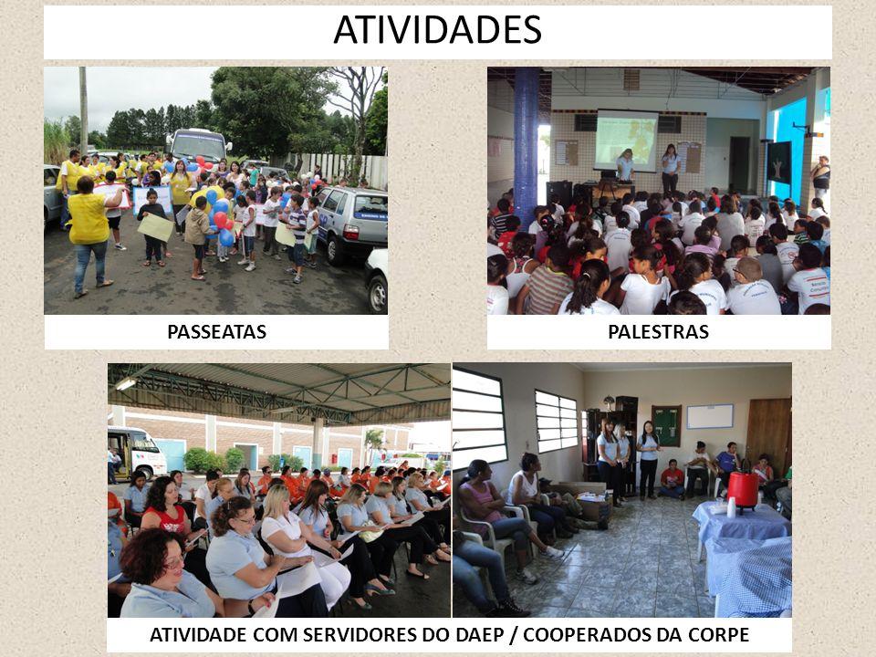 ATIVIDADES PASSEATASPALESTRAS ATIVIDADE COM SERVIDORES DO DAEP / COOPERADOS DA CORPE