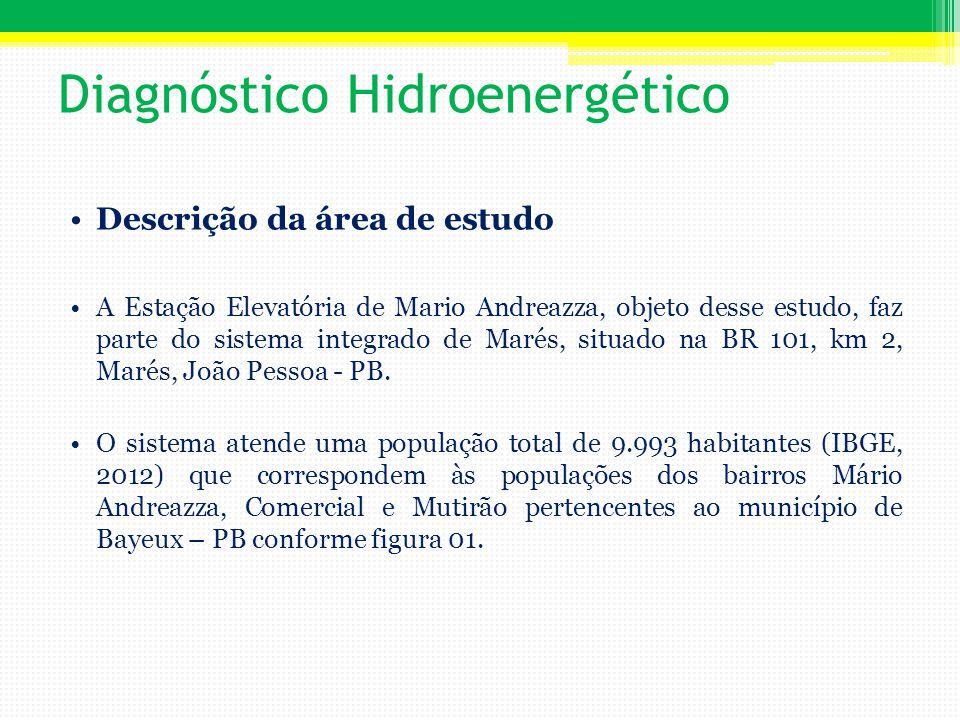 Diagnóstico Hidroenergético Descrição da área de estudo A Estação Elevatória de Mario Andreazza, objeto desse estudo, faz parte do sistema integrado d