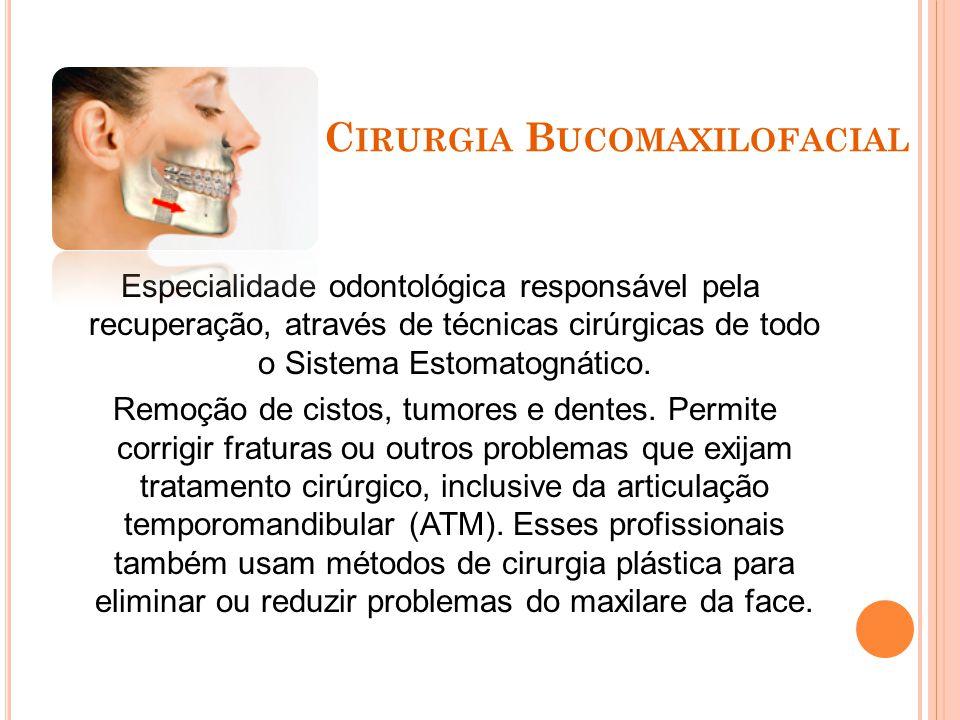 P ERIODONTIA Especialidade odontológica que visa à saúde de todo periodonto (em volta do dente), compreendendo as estruturas que dão suporte, nutrição e sensibilidade ao dente (doenças da gengiva).