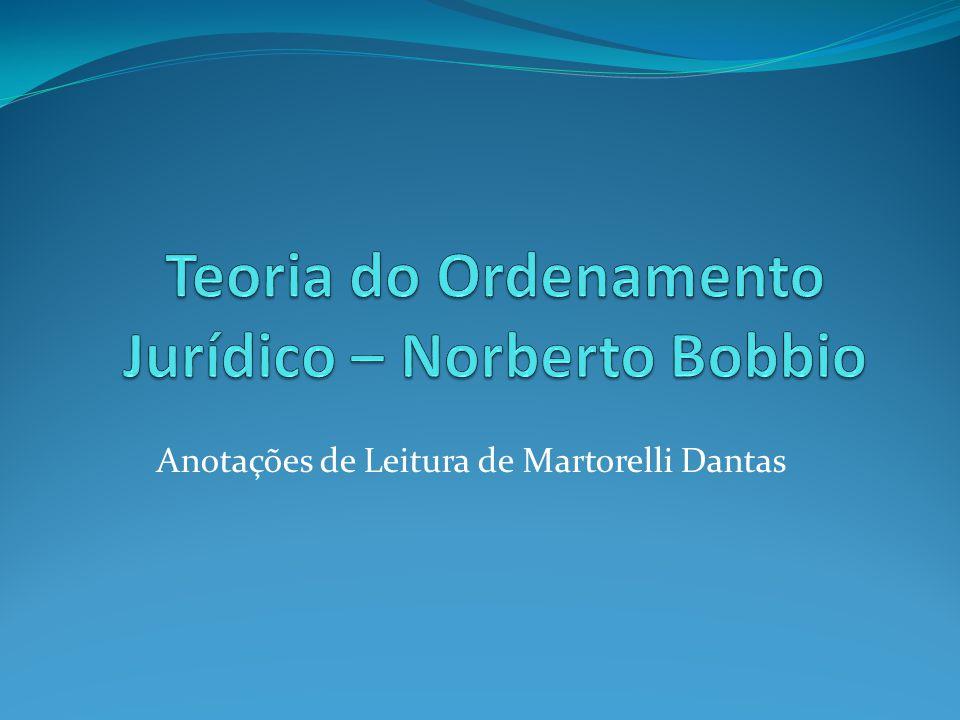 Da Norma Jurídica ao Ordenamento Jurídico Capítulo 1 a palavra 'direito', entre seus vários sentidos, tem também o de 'ordenamento jurídico', por exemplo, nas expressões 'Direito romano', 'Direito canônico' ['Direito brasileiro'] .