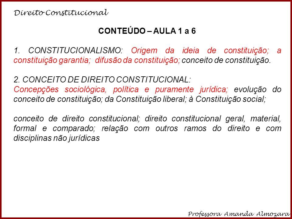 Direito Constitucional Professora Amanda Almozara 24 CONSTITUIÇÃO DEVERÁ SER ABERTA, EM UMA SOCIDADE ABERTA E VERDADEIRAMENTE DEMOCRÁTICA.