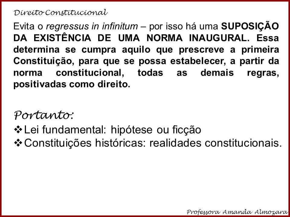 Direito Constitucional Professora Amanda Almozara 26 6.