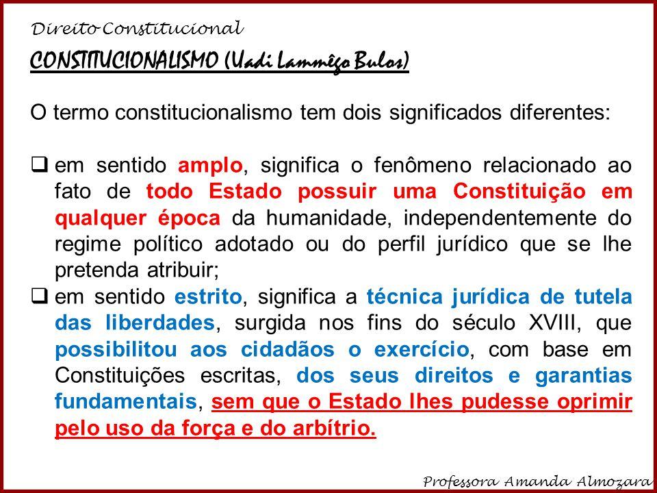 Direito Constitucional Professora Amanda Almozara 29 Na perspectiva didática, apesar de críticas, tradicionalmente, no direito positivo, Direito Constitucional é ramo INTERNO DO DIREITO PÚBLICO.