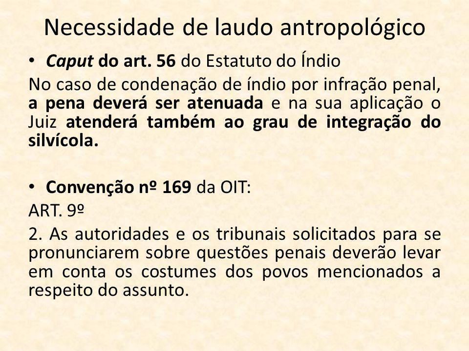 Necessidade de laudo antropológico Caput do art.