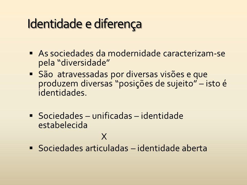 Identidade e Pertencimento  O processo de formação de uma identidade é contínuo, sempre negociado entre coletividade e indivíduo.