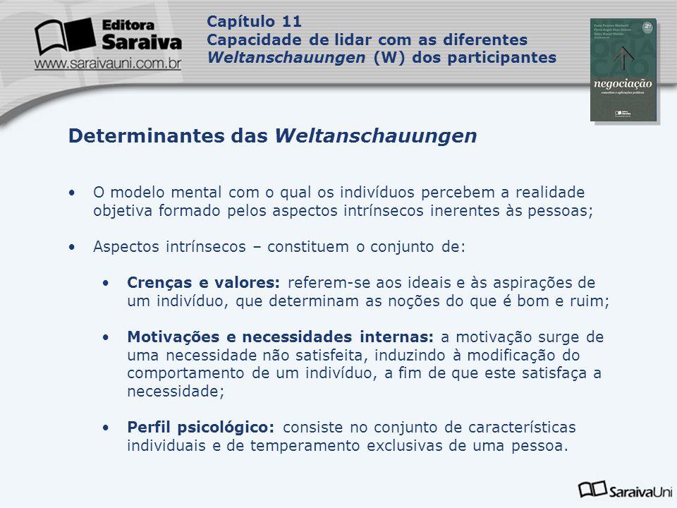 Capa da Obra Capítulo 11 Capacidade de lidar com as diferentes Weltanschauungen (W) dos participantes O modelo mental com o qual os indivíduos percebe