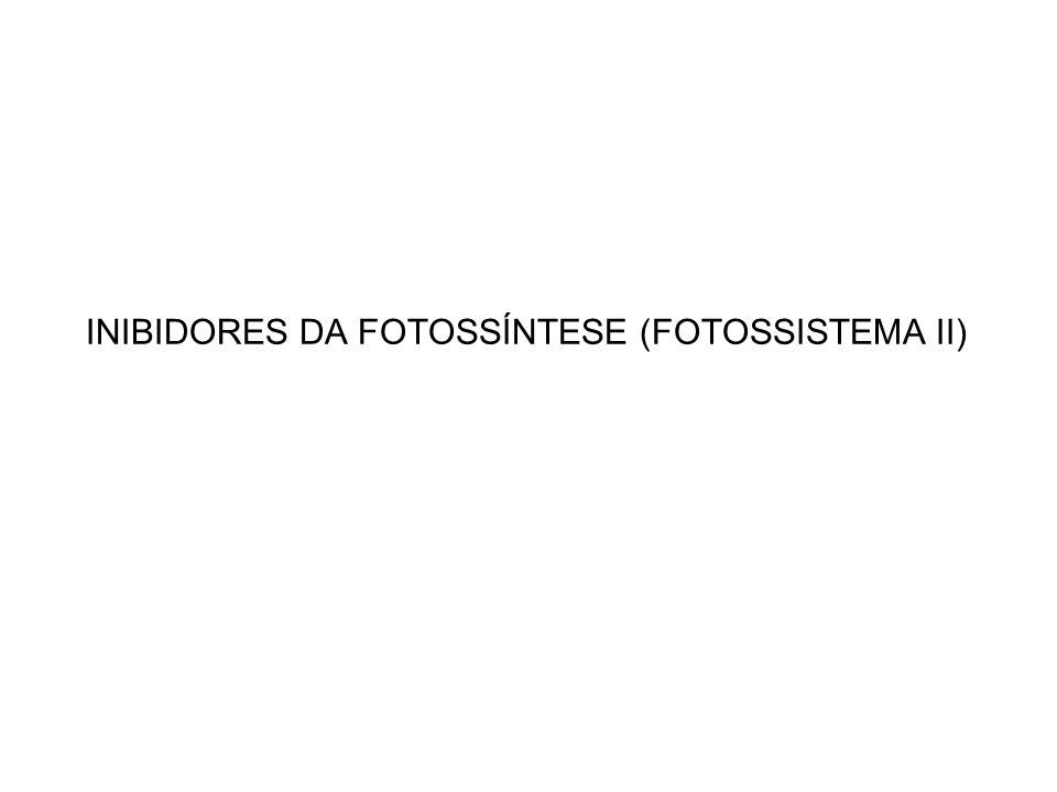 INIBIDORES DA FOTOSSÍNTESE (FOTOSSISTEMA II)