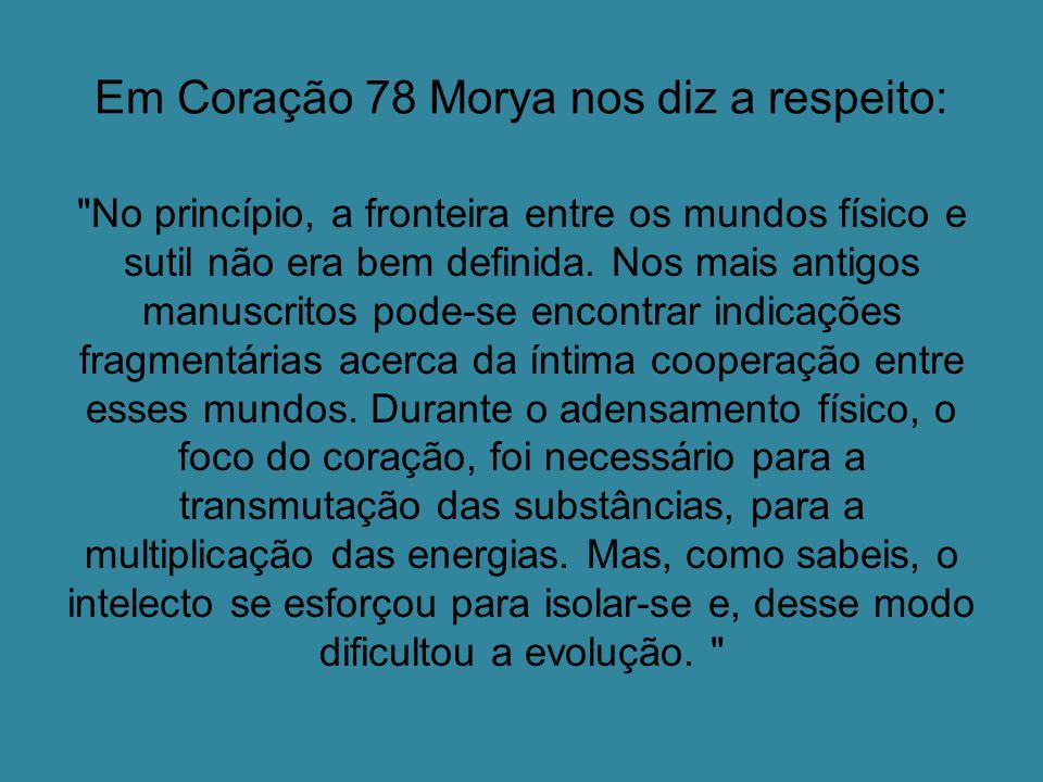 Em Coração 78 Morya nos diz a respeito: No princípio, a fronteira entre os mundos físico e sutil não era bem definida.