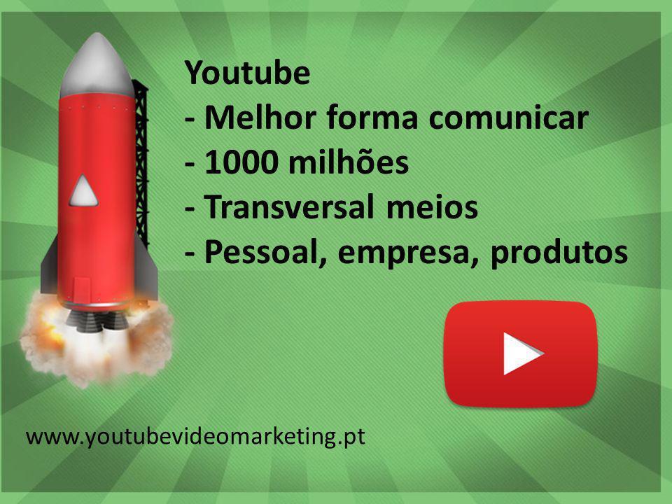 Workshop Marketing Digital | Vasco Marques vascomarques.com Youtube - Melhor forma comunicar - 1000 milhões - Transversal meios - Pessoal, empresa, produtos www.youtubevideomarketing .pt