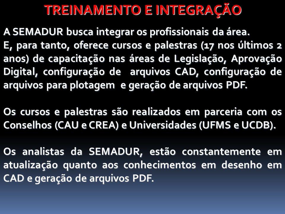 TREINAMENTO E INTEGRAÇÃO A SEMADUR busca integrar os profissionais da área.