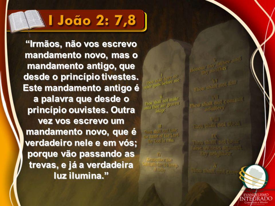 """""""Irmãos, não vos escrevo mandamento novo, mas o mandamento antigo, que desde o princípio tivestes. Este mandamento antigo é a palavra que desde o prin"""