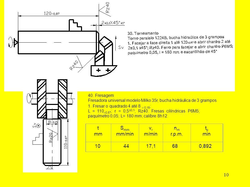 10 40. Fresagem Fresadora universal modelo Milko 35r, bucha hidráulica de 3 grampos 1.