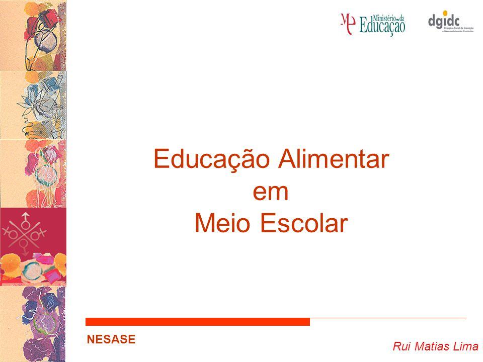 Rui Matias Lima NESASE Educação Alimentar no Curriculum Oferta Alimentar