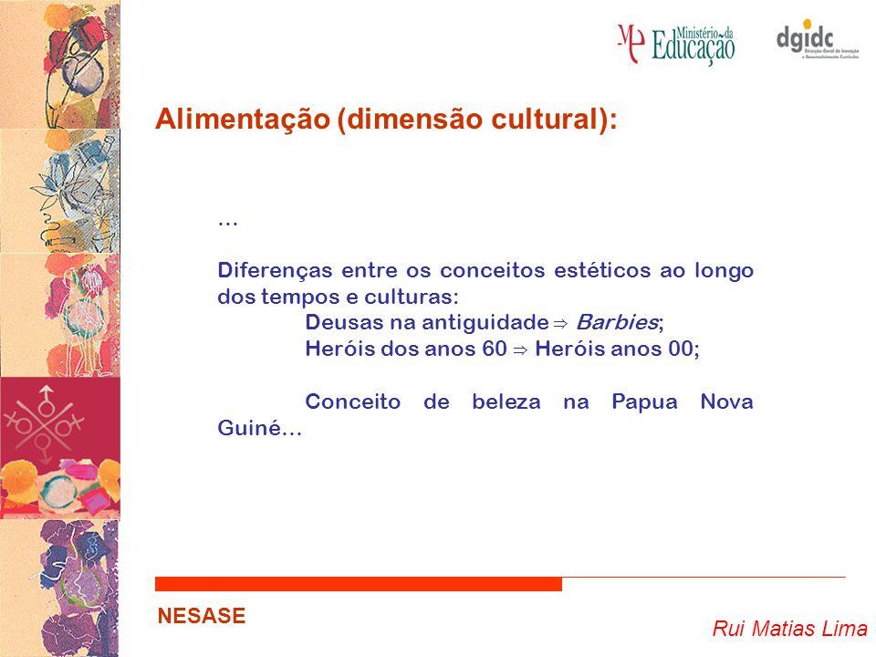 Rui Matias Lima NESASE Alimentação (dimensão cultural): … Diferenças entre os conceitos estéticos ao longo dos tempos e culturas: Deusas na antiguidad