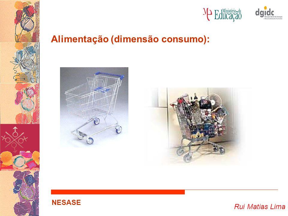 Rui Matias Lima NESASE Alimentação (dimensão consumo):