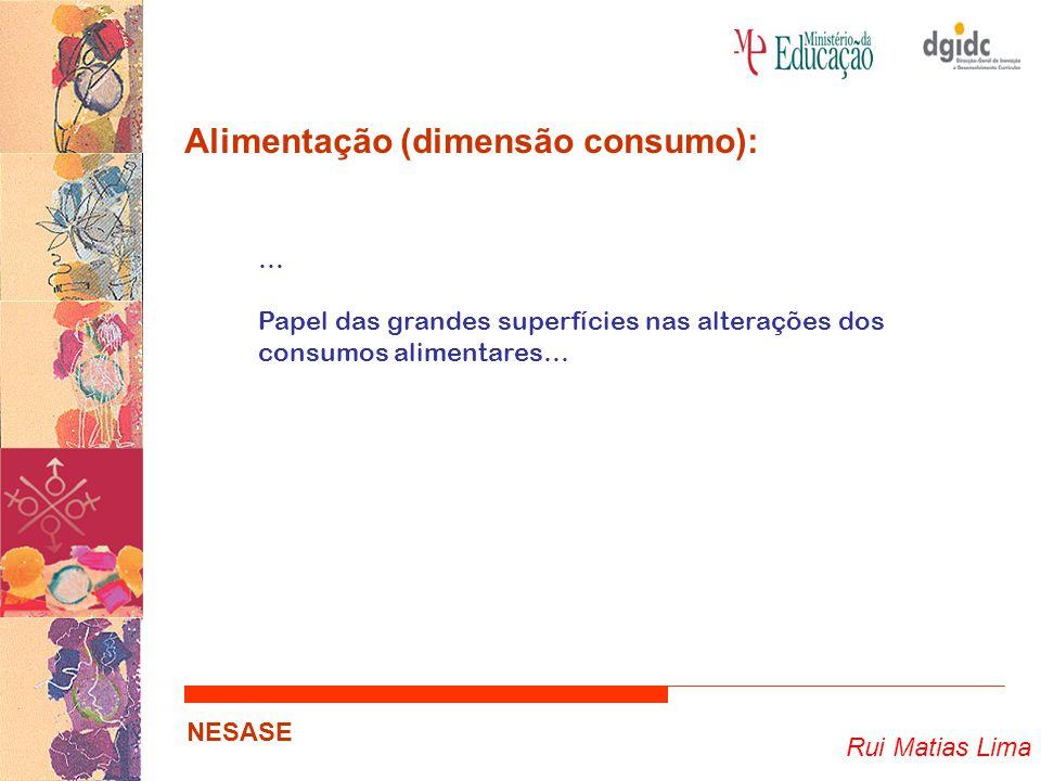 Rui Matias Lima NESASE Alimentação (dimensão económica): Agricultura Pecuária Pescas