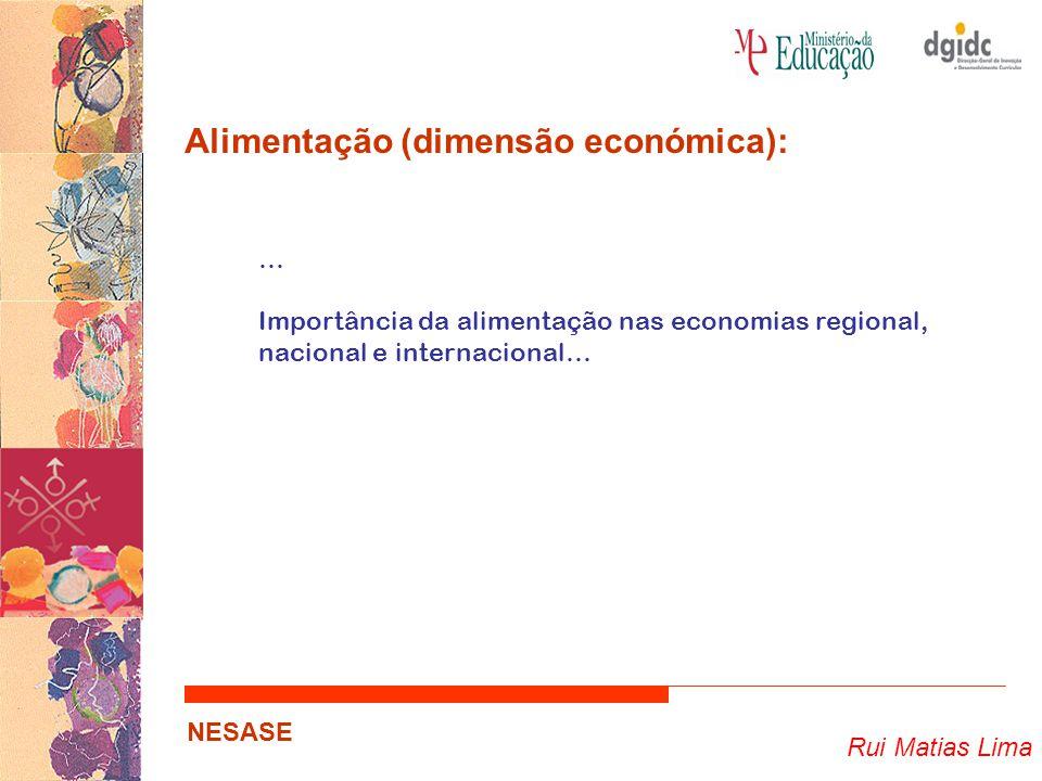 Rui Matias Lima NESASE Alimentação (dimensão moda ):