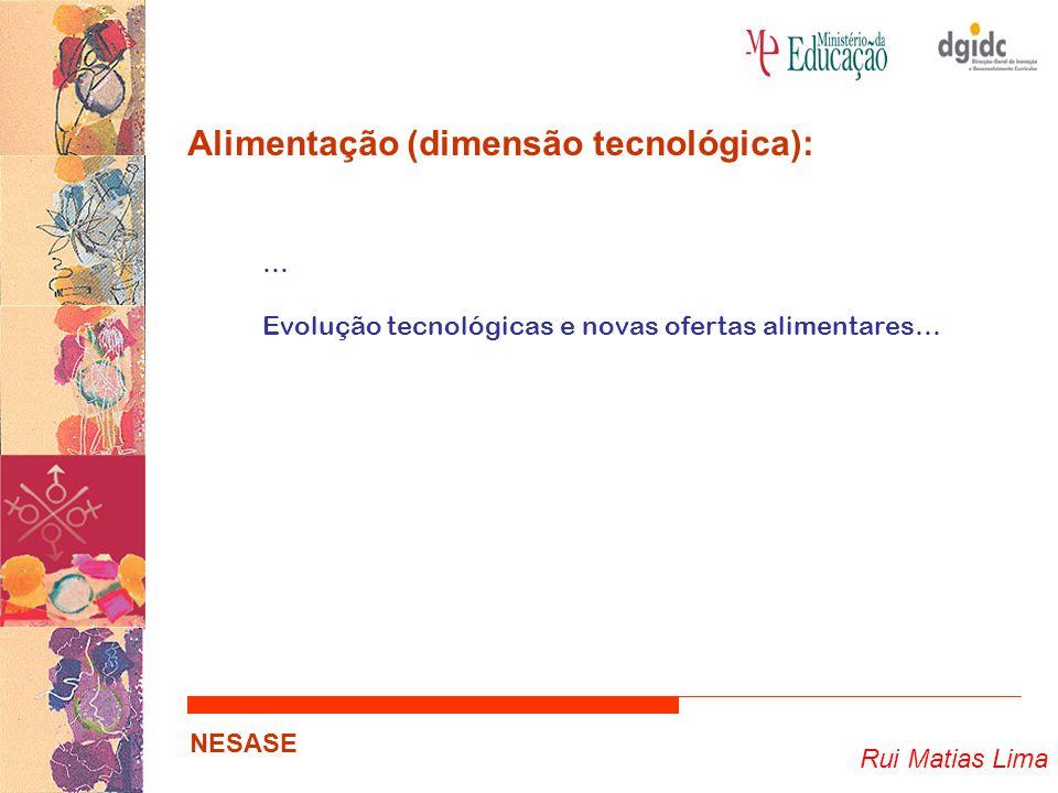 Rui Matias Lima NESASE Alimentação (dimensão tecnológica): … Evolução tecnológicas e novas ofertas alimentares…