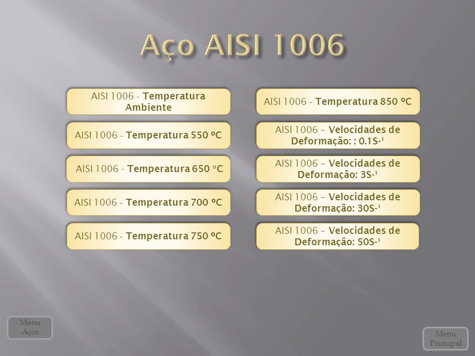 AISI 1006 - Temperatura 650 º C AISI 1006 - Temperatura 650 º C AISI 1006 - Temperatura 700 ºC AISI 1006 - Temperatura 700 ºC AISI 1006 – Velocidades