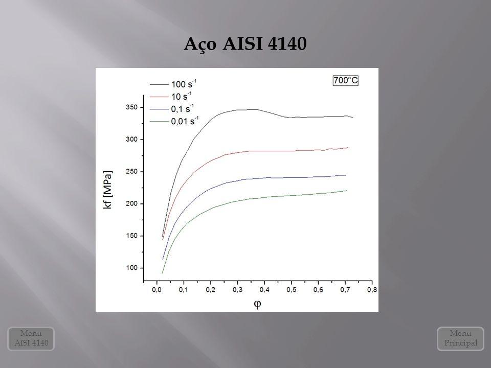 Aço AISI 4140 Menu Principal Menu AISI 4140