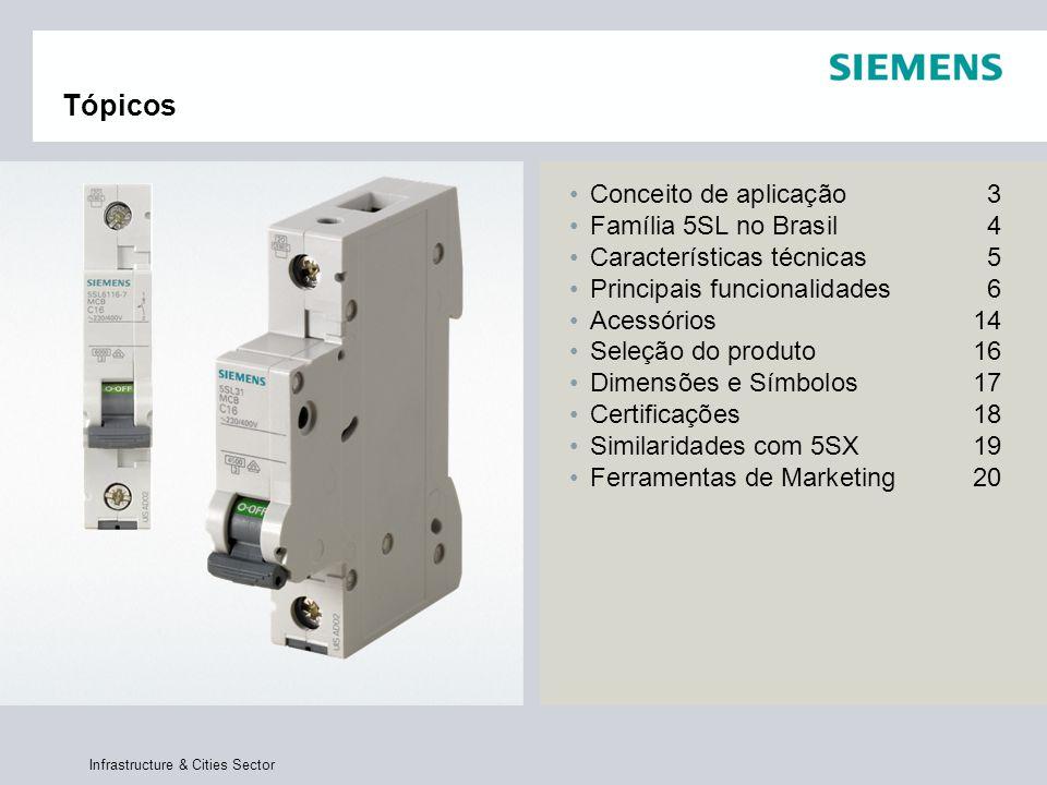 Infrastructure & Cities Sector Tópicos Conceito de aplicação3 Família 5SL no Brasil4 Características técnicas5 Principais funcionalidades6 Acessórios1