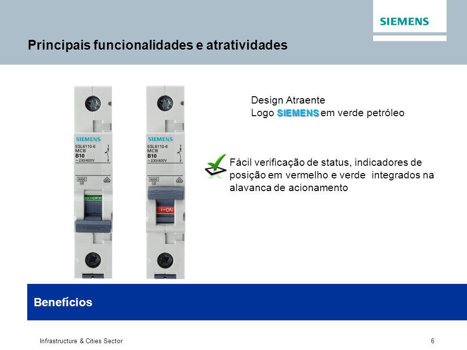 6 Infrastructure & Cities Sector Design Atraente SIEMENS Logo SIEMENS em verde petróleo Fácil verificação de status, indicadores de posição em vermelh