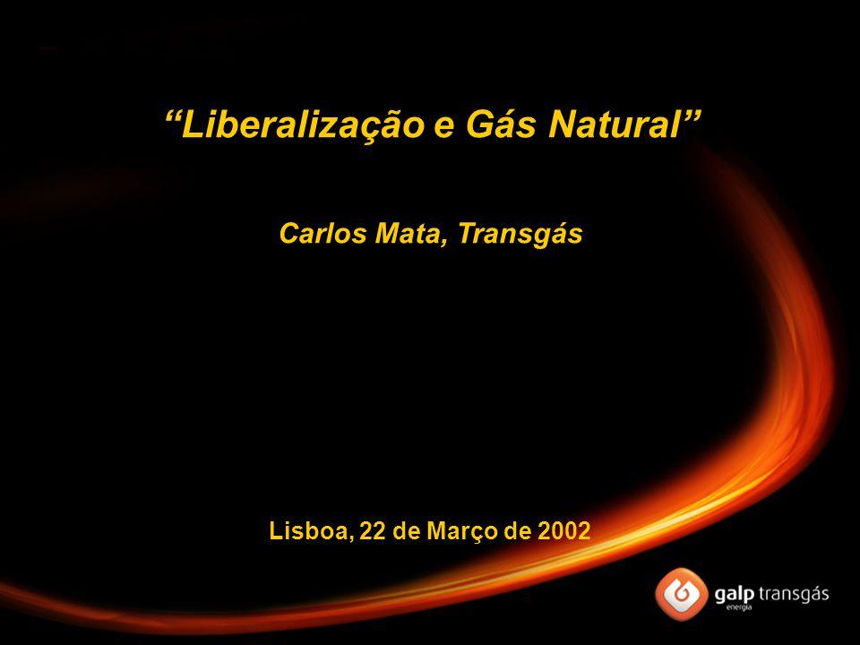 """Lisboa, 22 de Março de 2002 """"Liberalização e Gás Natural"""" Carlos Mata, Transgás"""