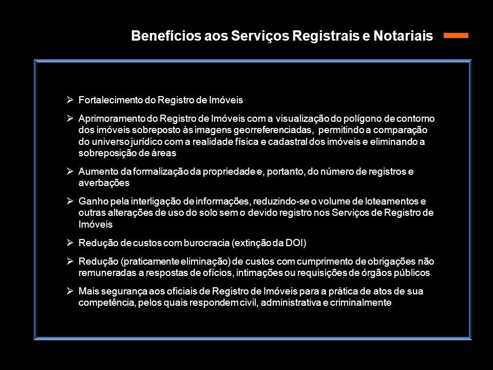  Fortalecimento do Registro de Imóveis  Aprimoramento do Registro de Imóveis com a visualização do polígono de contorno dos imóveis sobreposto às im