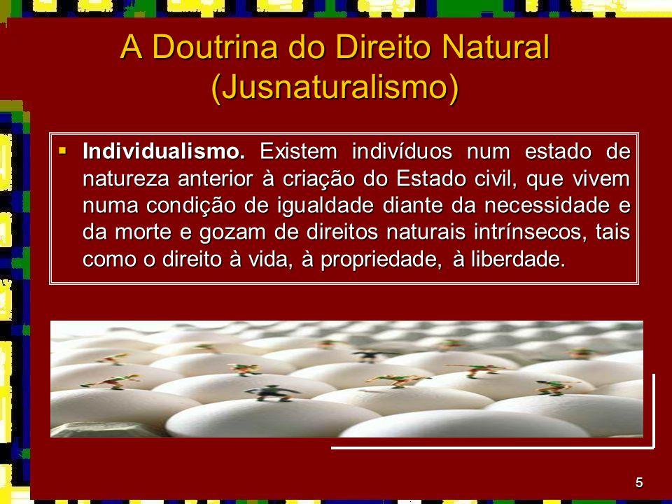 5 A Doutrina do Direito Natural (Jusnaturalismo)  Individualismo.