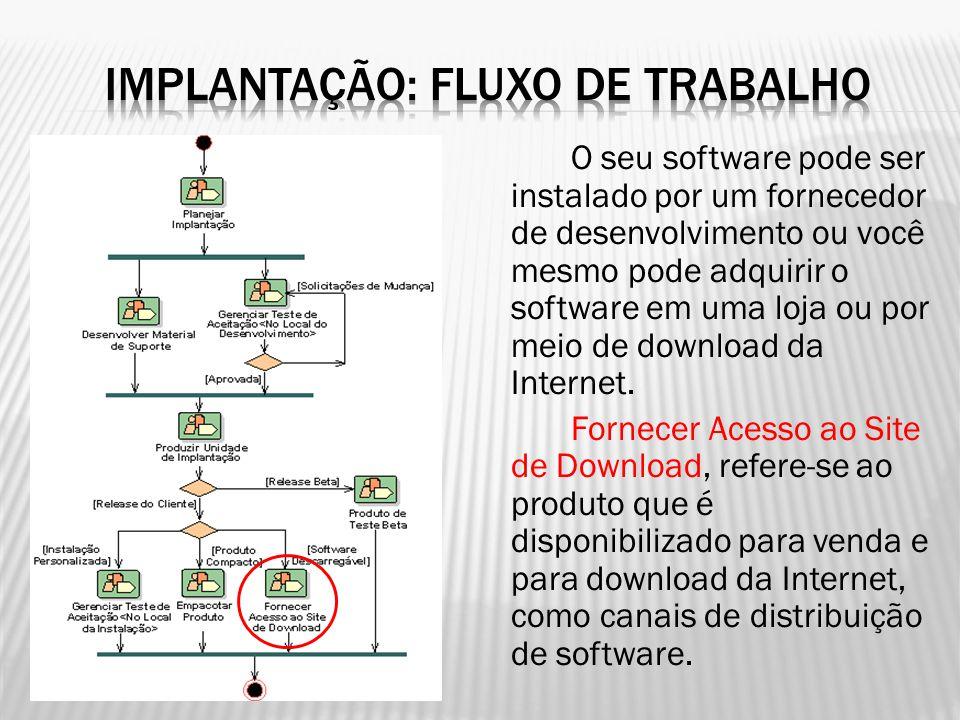 O seu software pode ser instalado por um fornecedor de desenvolvimento ou você mesmo pode adquirir o software em uma loja ou por meio de download da I