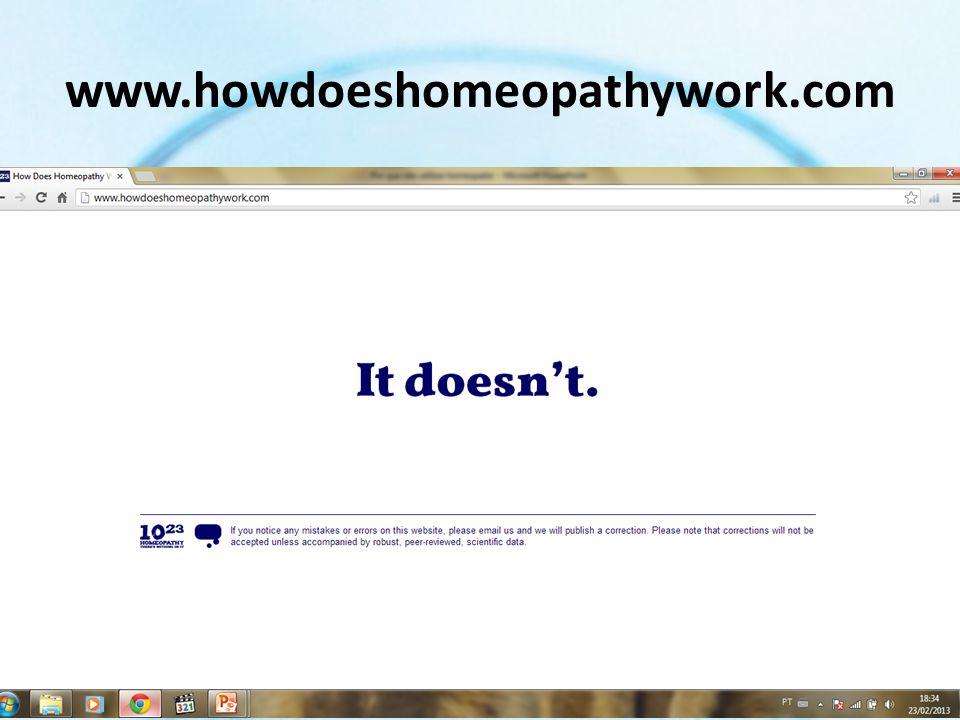 Estudos científicos sobre a eficácia de medicamentos homeopáticos Hill C, Doyon F.