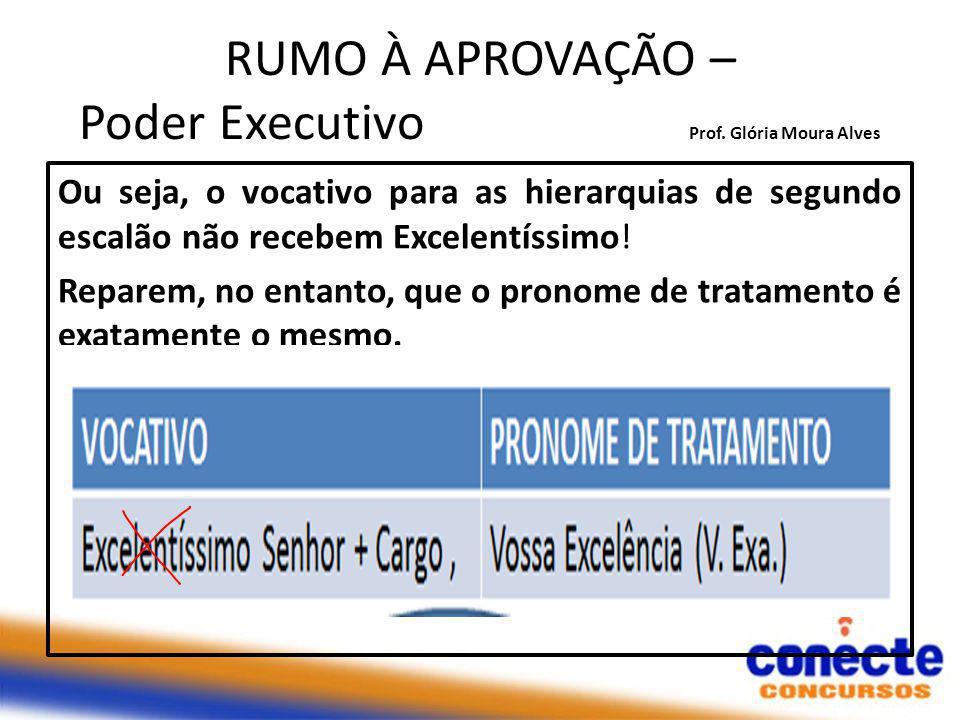 RUMO À APROVAÇÃO – Poder Executivo Prof.