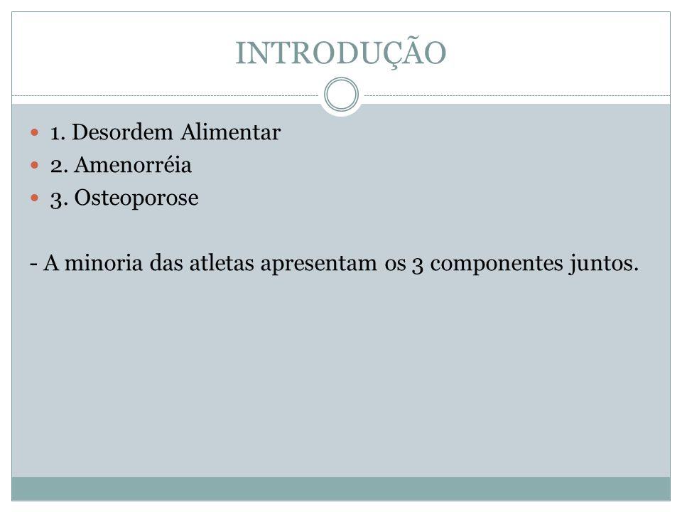 INTRODUÇÃO 1.Desordem Alimentar 2. Amenorréia 3.