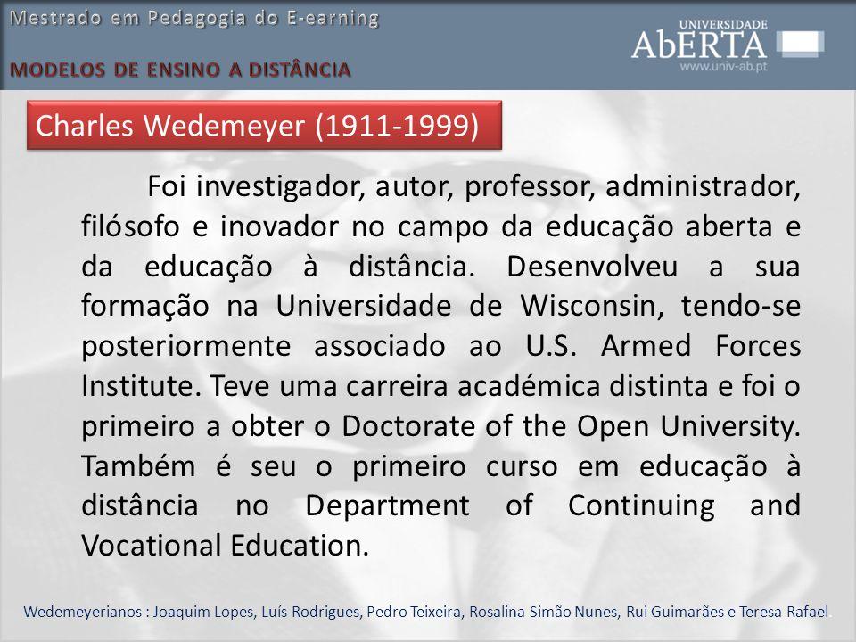 Foi investigador, autor, professor, administrador, filósofo e inovador no campo da educação aberta e da educação à distância. Desenvolveu a sua formaç