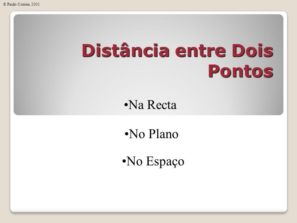 Distância entre Dois Pontos Na Recta No Plano No Espaço © Paulo Correia 2001